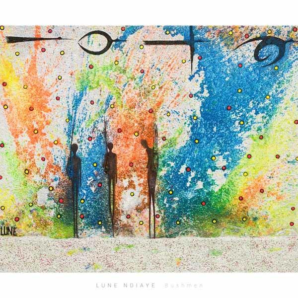 Bushmen, 120 x 90 cm, Sand, Acryl auf Leinwand, Shop, 1000 Euro, ABC-2