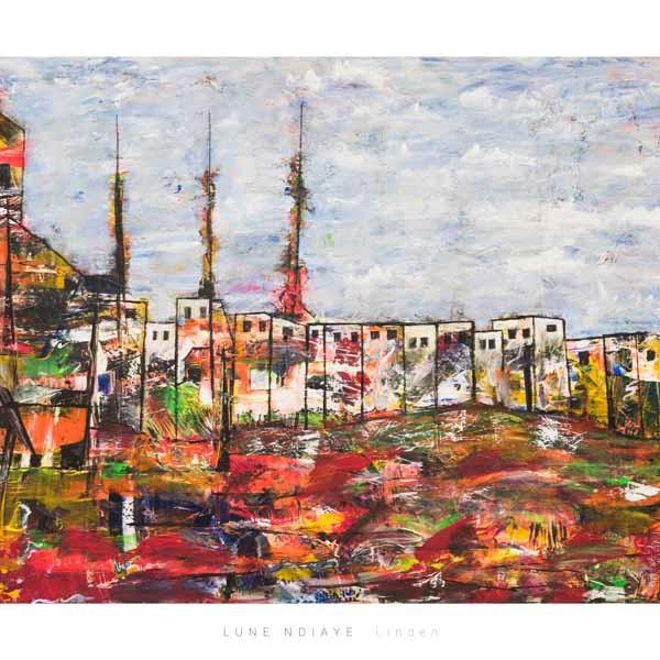 Linden, 130 x 90 cm, Acryl auf Leinwand, ABC-2
